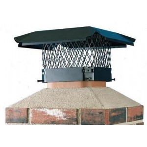 HY-C Black Stainless Steel Single Flue Chimney Cap